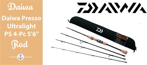 daiwa presso ultralight pack spinning rod  piece  review