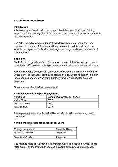 Car Allowance Policy Template best photos of car allowance policy templates company