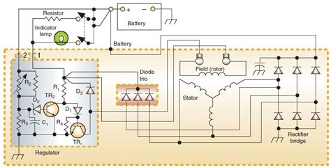 ac generator circuit diagram with regulator electrical engineering tec elect