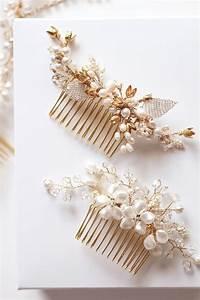 Gold Bridal Hair Pieces Percy Handmade