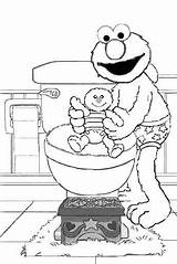 Potty Elmo Training Coloring Pages Colouring Toilet Printable Pee Diaper Monster Daycare Activities Street Cookie Sesame Diapers Boys Chart Disney sketch template