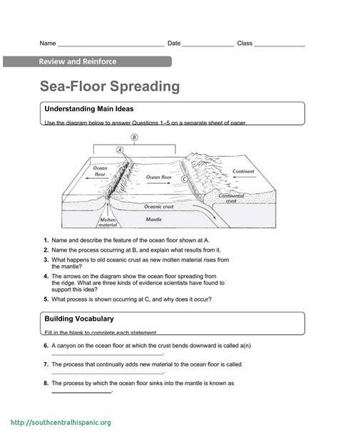 Children get an introduction to plate tectonics in this geology worksheet. Sea Floor Spreading Worksheet Pdf | Sea floor ...
