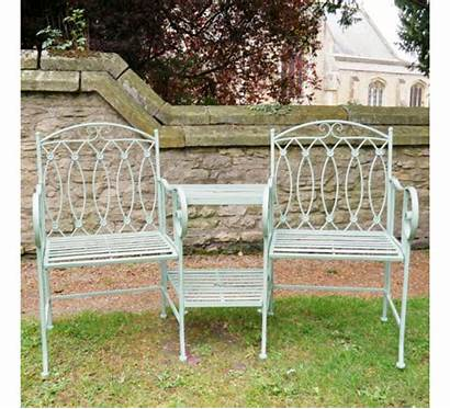Metal Bench Rustic Lovers Garden Benches Furniture