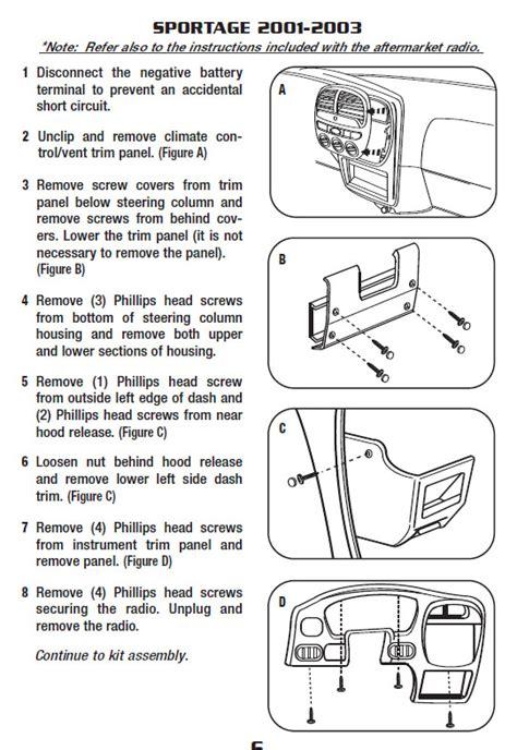 Kia Sportageinstallation Instructions