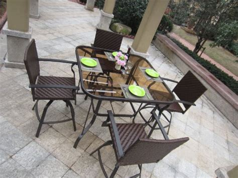 outdoor patio glass top oval dining tables home