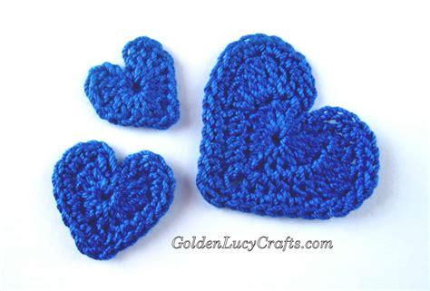 Applique Patterns by Crochet Hearts Applique Free Crochet Pattern
