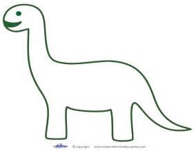 Dinosaur Template Printable Brontosaurus Decoration Coolest Free