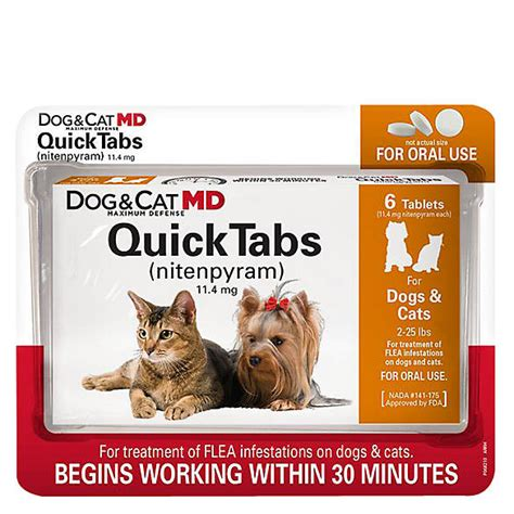 dog cat md maximum defense quicktabs   lb flea