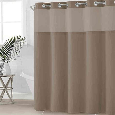 80 shower curtain buy hookless 174 waffle fabric 54 inch x 80 inch shower
