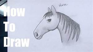 Horse Head Drawing For Kids