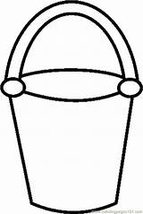 Bucket Printable Sand Coloring Outline Filler Template Clip Printablee Via sketch template
