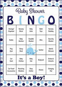 Whale Baby Bingo Cards - Printable Download