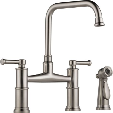 best brand for kitchen faucets brizo 62525lf ss artesso brilliance stainless two handle