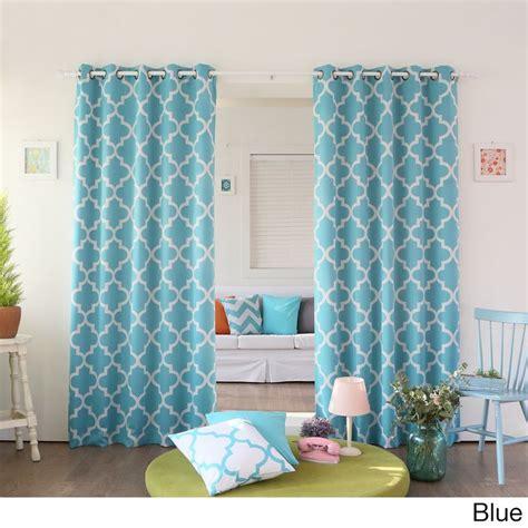 moroccan tile curtain panels home moroccan tile room darkening grommet top 84