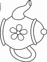 Kettle Coloring Pages Printable Template Templates sketch template