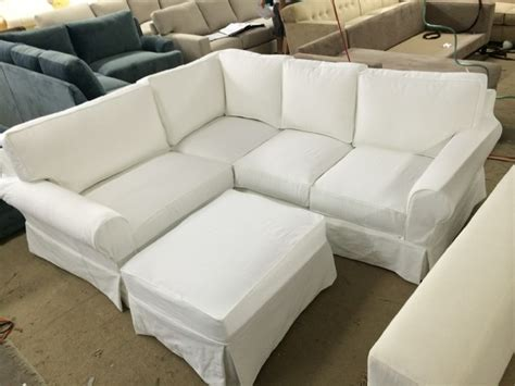 shabby chic sectional sofa robin style slipcovered shabby chic pottery barn look sectional sofas los angeles by