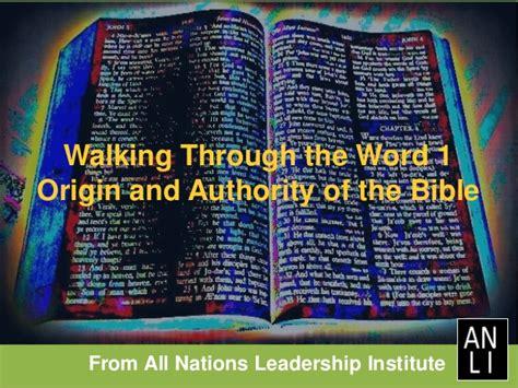 origin  authority   bible  nations leadership