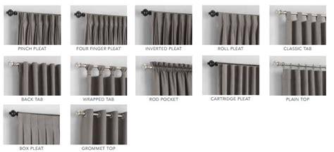 different drapery pleat styles custom drapery curtain heading styles rancho santa fe ca