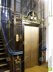 Old, Lift, In, Uk, Stock, Photo