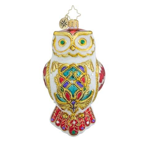 christopher radko ornaments radko owl fly away animal