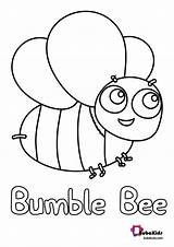Bee Coloring Bumble Bubakids Bumblebee Printable sketch template