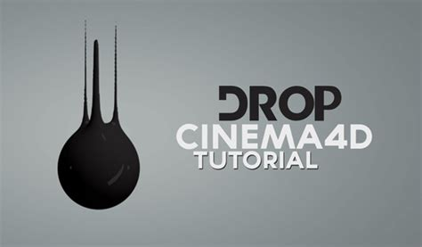 cinema 4d template free liquid cinema 4d liquid motion drop tutorial