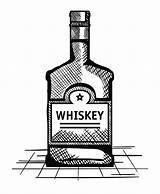 Whiskey Bottle Vector Label Drawn Premium Vectorified sketch template