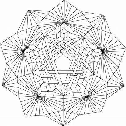 Coloring Mandala Geometric Patterns Eye Daedalus Adult