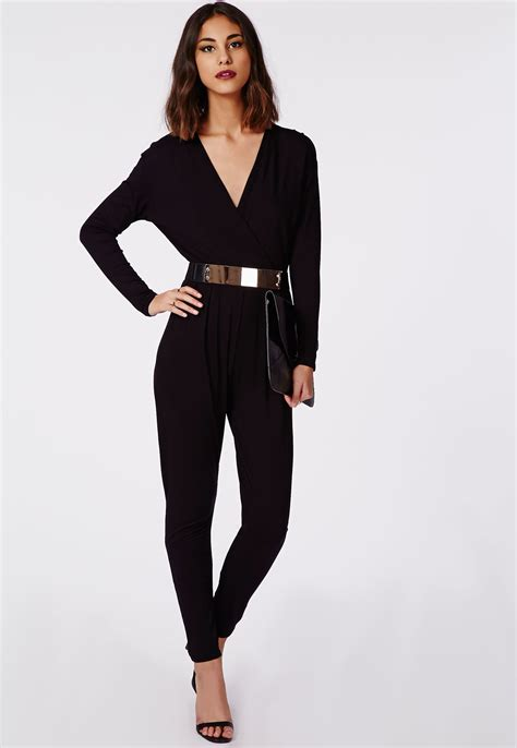 wrap jumpsuit sharina wrap jersey jumpsuit jumpsuits playsuits