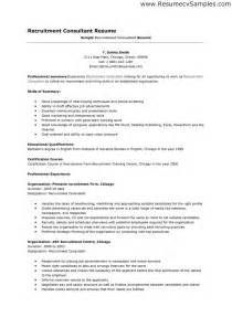 Cover Letter Accountant Recruitment Consultant Resume Sle Resumes Design