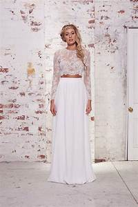 wedding dresses we love bridal separates With crop top wedding dress