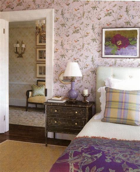 lavender wallpaper bedroom hummingbirds cole son