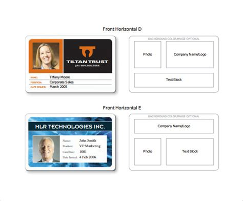 sample  id card template sample templates