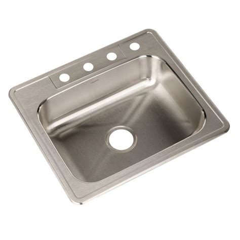 stainless steel bowl kitchen sinks houzer glowtone series drop in stainless steel 25 in 4 9388