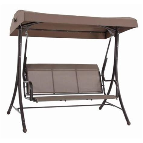 Patio Canopy Swing Home Depot by Steel Solar Lit Patio Swing Gss00005j The Home Depot