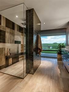 Receveur Douche Couleur : la salle de bain avec douche italienne 53 photos ~ Edinachiropracticcenter.com Idées de Décoration