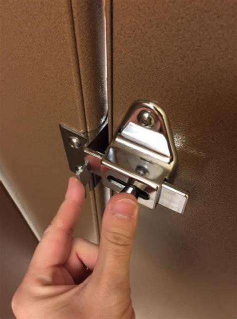 retail hell underground bathroom stall lock mystery
