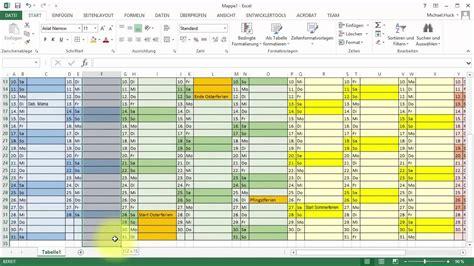 tutorial excel kalender jahresuebersicht youtube