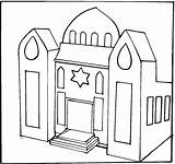 Synagogue Coloring Clip Clipart Jewish Temple Drawing Buildings Library Colouring Jesus Printable Cliparts Pre Luke sketch template