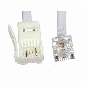 Long 10m Rj11 To Bt 2 Wire Fax Data Cable Sky Box To