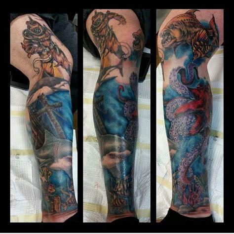 awesome ocean tattoo idea    loves