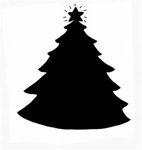 Christmas Tree Silhouette Clipart (17+)