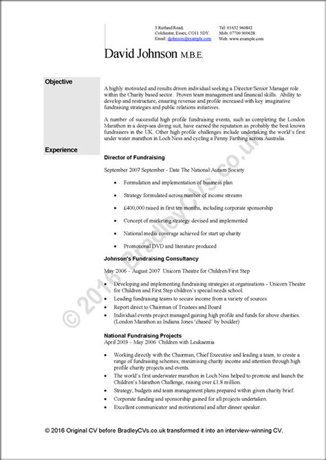 Cvs And Resumes Exles by Exle Cvs Resumes A Before And After Study