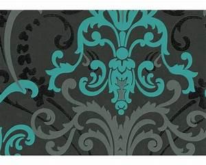 Tapete Petrol Muster : vliestapete ornamente schwarz mint bei hornbach kaufen ~ Eleganceandgraceweddings.com Haus und Dekorationen