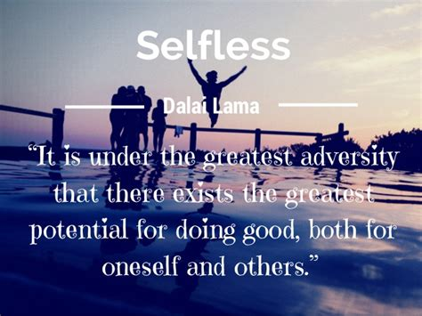 Selfless It Is Under The