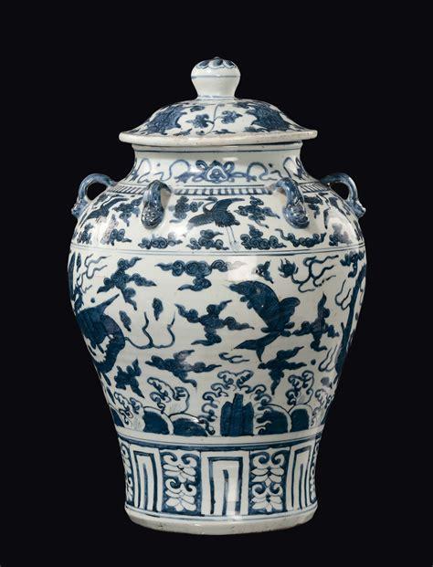 vaso ming vaso con un coperchio in porcellana e con