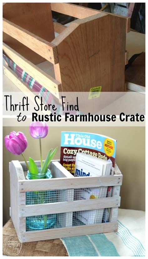 Diy Rustic Farmhouse Crate (from A Thrift Store Find