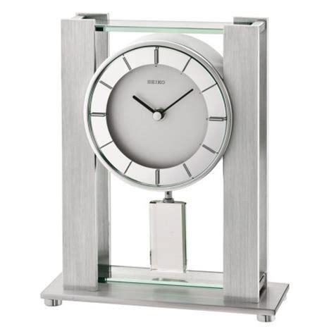 pendule a poser moderne pendule rectangle 224 poser seiko qhn007sn avec balancier