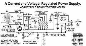 Power Supply For Regulated Current And Voltage