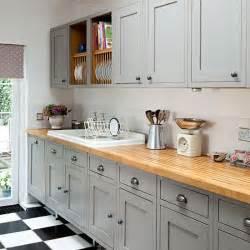 shaker kitchen ideas grey shaker style kitchen with wooden worktop decorating housetohome co uk